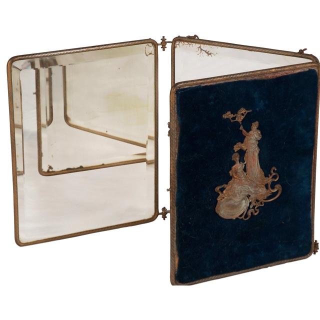 Tri fold mirror vintage boudoir pinterest for Tri fold mirror