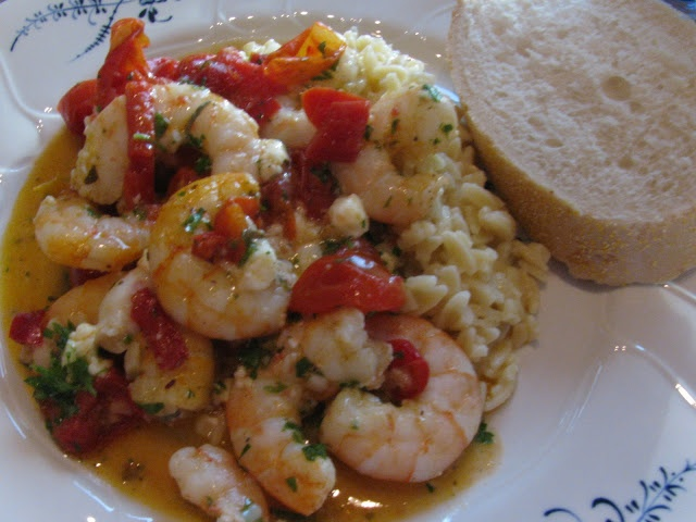 Easy Roasted Tomatoes And Shrimp With Feta, Oregano, And Fennel ...