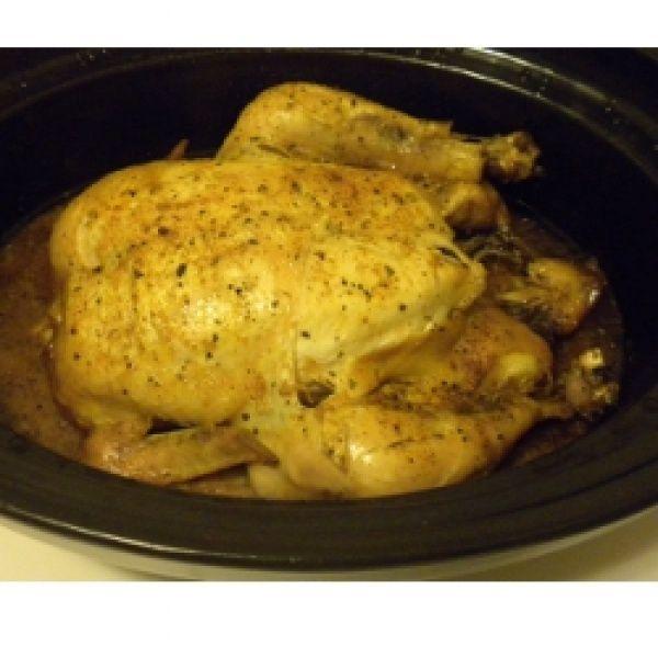 Easy Slow Cooker Roast Chicken | Whole 30/Paleo | Pinterest