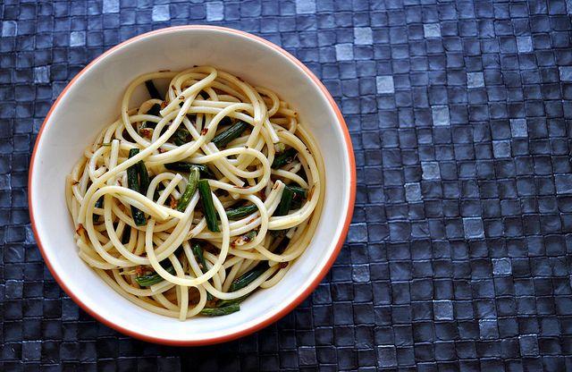 Garlic Scape Lemon Pasta   Yummies   Pinterest