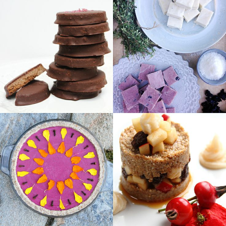 Raw desserts ~ thin mints, raw pie, fudge & apple cobbler!