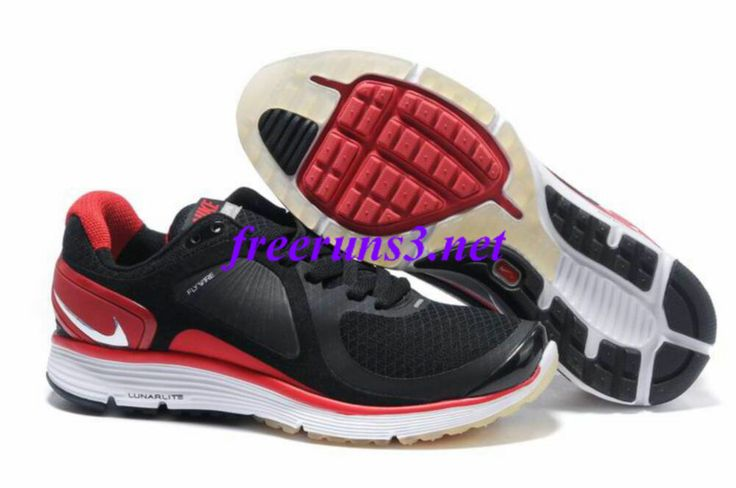 8imWj7 Mens Nike Lunar Eclipse Black Red Shoes