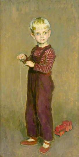 Boy with a Toy, 1944 by Henry Lamb (1883-1960)