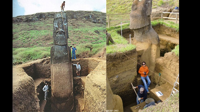 today I learned the Easter Island Heads actually have bodies
