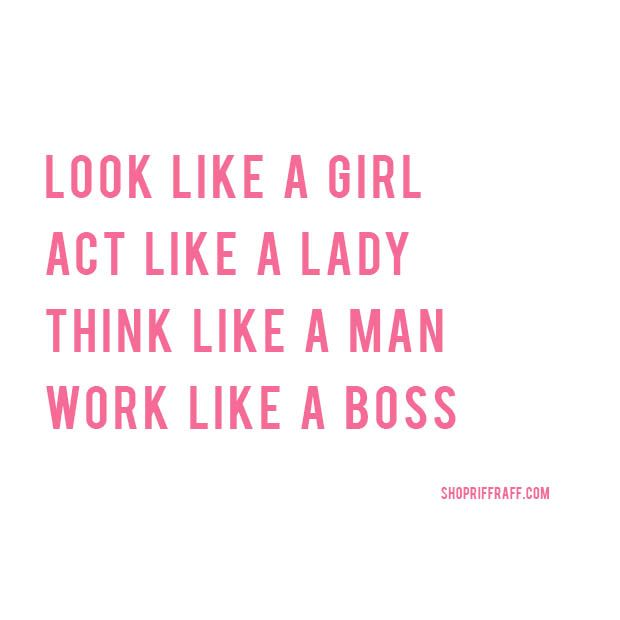 work like a boss... #RRHQuotes #RiffraffLove