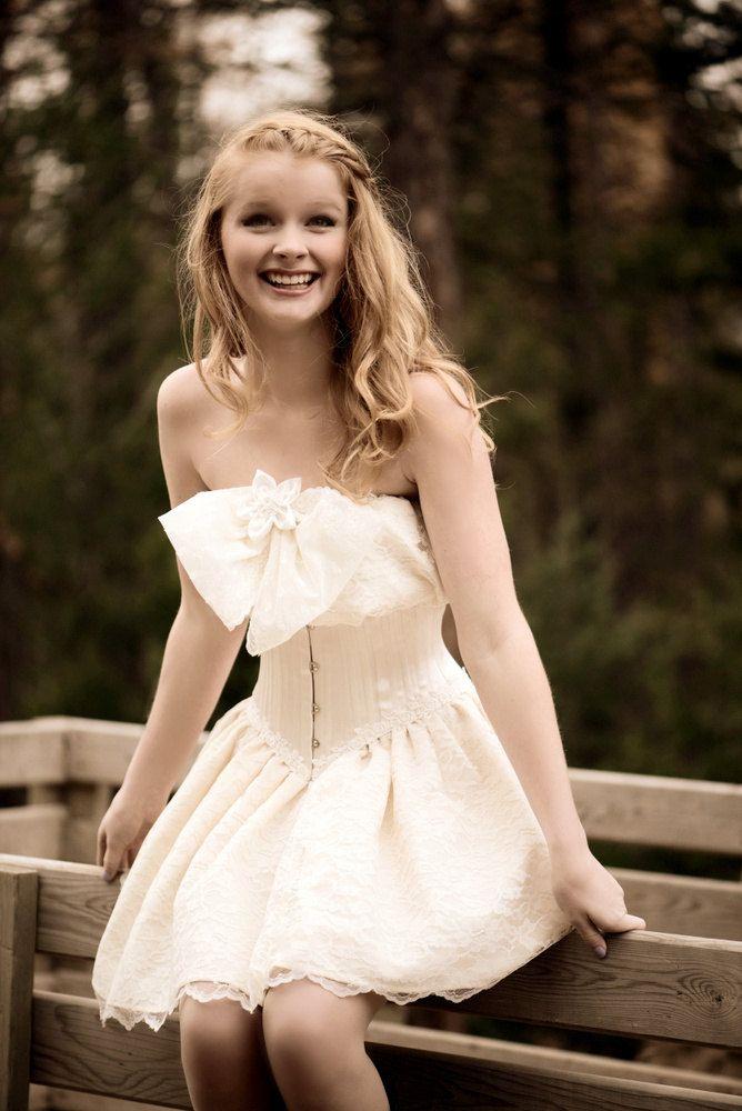 Short Corset Wedding Dresses 120