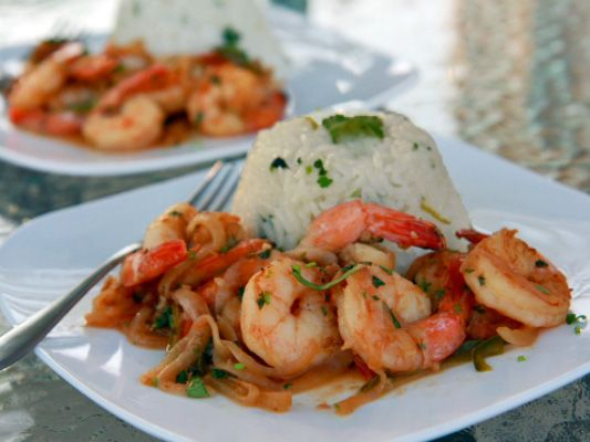 spicy tequila shrimp. tequila =