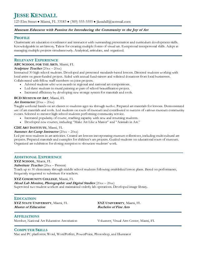 Resume For Teachers Download