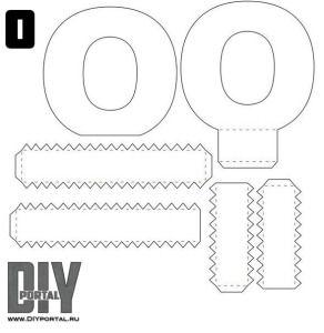 Объемные буквы из бумаги своими руками схемы шаблоны алфавит 19