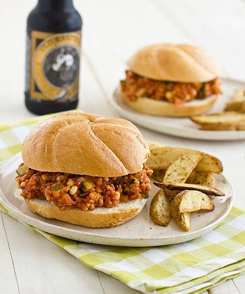 Veggie & Tempeh Sloppy Joes | Vegetarian Sandwiches | Pinterest