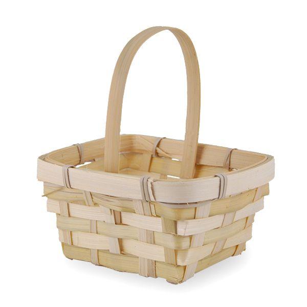 Miniature Rectangular Bamboo Handle Basket 5inLainie Sorkin