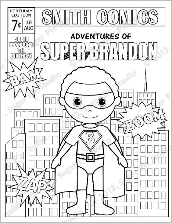 comic book coloring pages - photo #26