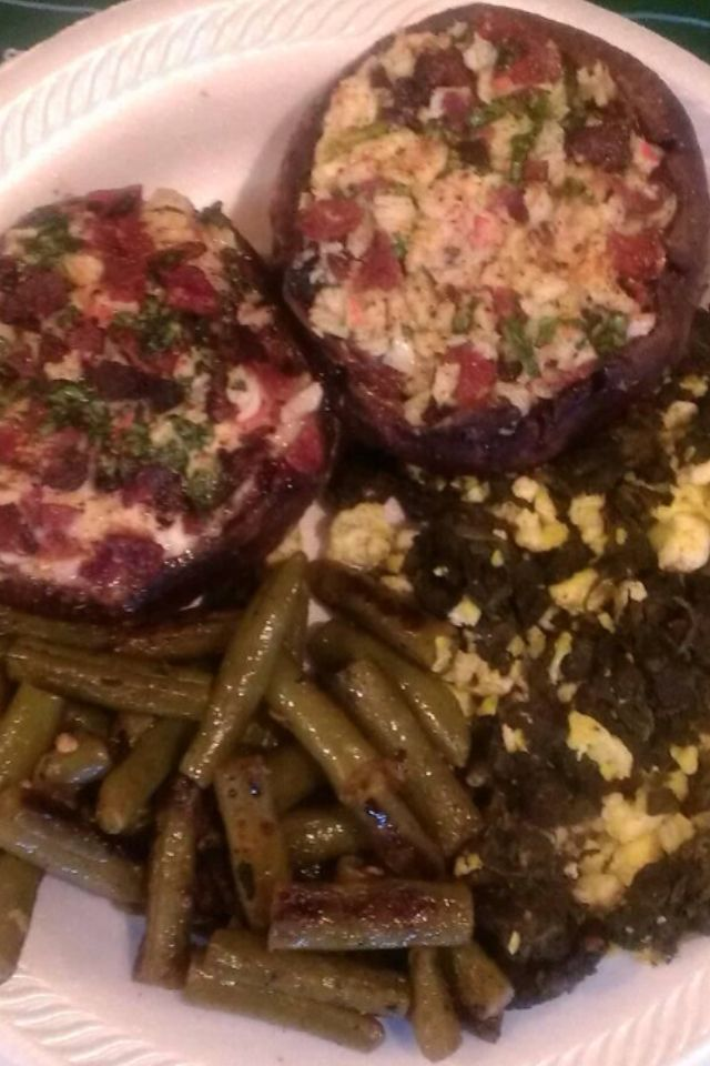 , turkey bacon, cream cheese and spinach stuffed portabella mushrooms ...