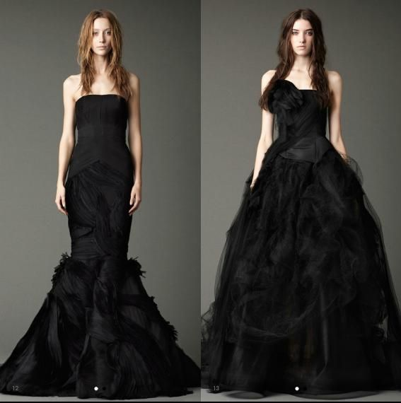 Vera Wang Black Wedding Gowns Perfect Harmony Pinterest
