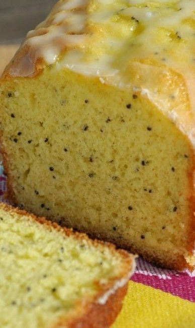 Glazed Lemon Poppy Seed Bread | Yums | Pinterest