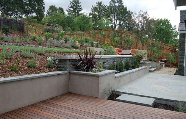 stucco retaining wall Backyard Pinterest
