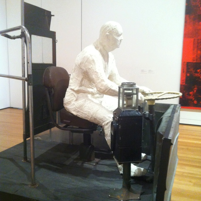 """George Segal, """"The Bus Driver"""""""