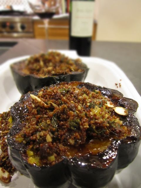 :: mediterranean quinoa stuffed squash. we used butternut squash ...