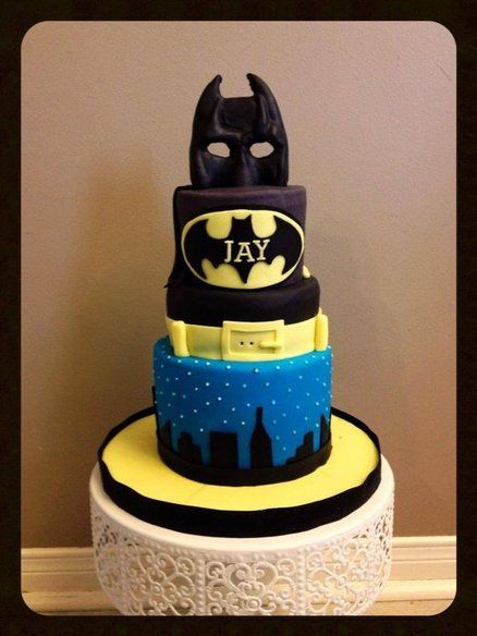 Cake Designs Batman : Im BATMAN Cake by JJCupCakes Batman Cakes Pinterest