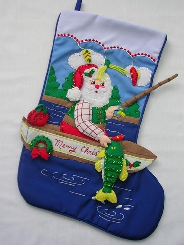 Pin by the christmas window on bucilla felt christmas for Fish christmas stocking
