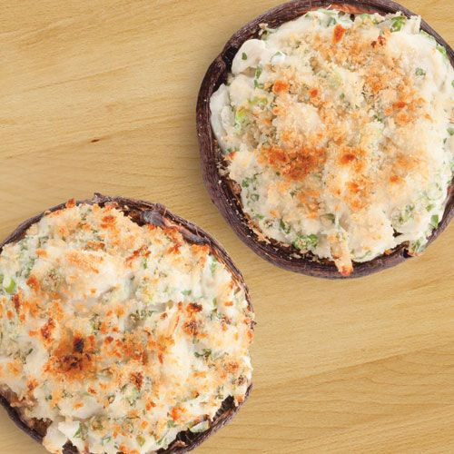 Crab-Stuffed Mushrooms | Seafood | Pinterest