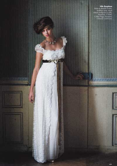 Empire style wedding dresses brides ands pinterest for Empire style wedding dress