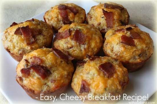 Savory breakfast muffins with bacon, sausage, cheese, and eggs. Try ...