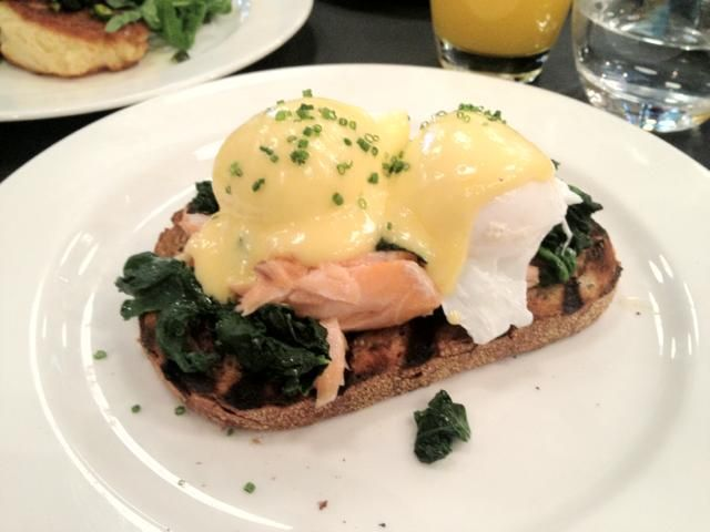 ... on toasted sourdough with spinach, 2 poached eggs & yuzu hollandaise