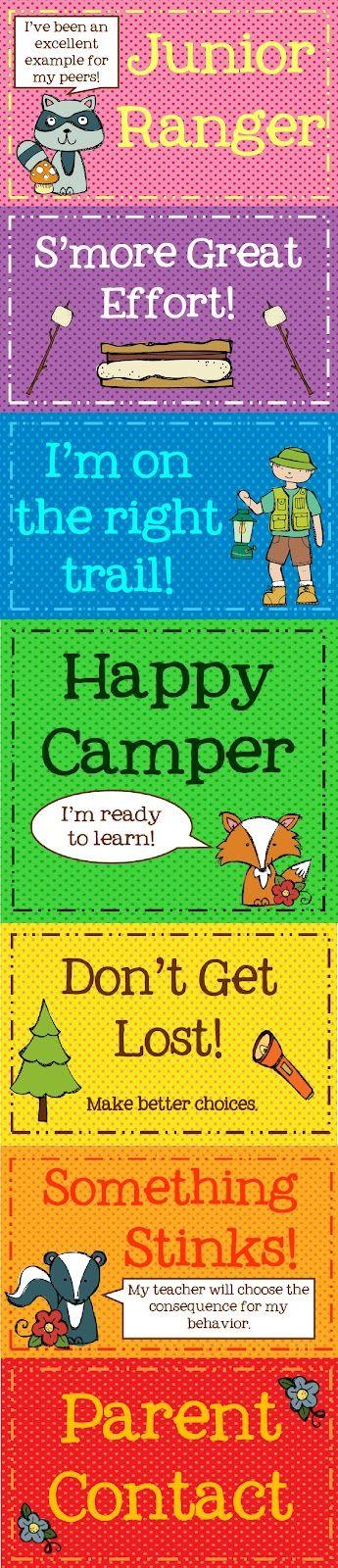 Camper Class Chart Freebie