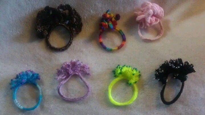 Crochet hair bands Crochet Pinterest