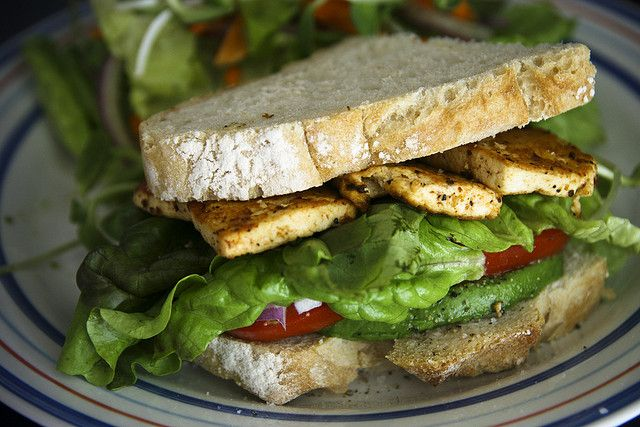 Grilled BBQ Tofu Sandwich | food for thought | Pinterest
