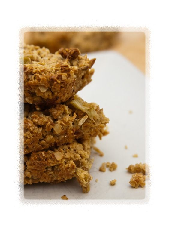 Rhubarb flapjack slices | Sweet Treats! | Pinterest