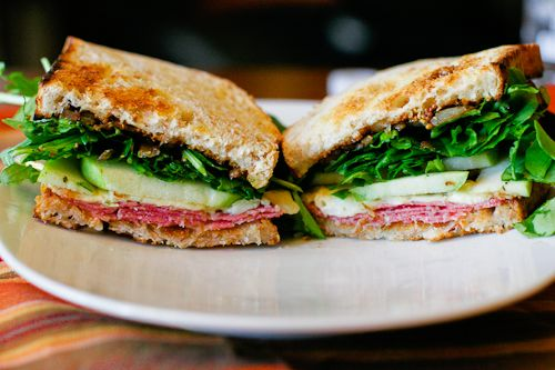 ... Salami, Brie, and Green Apple Sandwiches. The perfect Fall sandwich