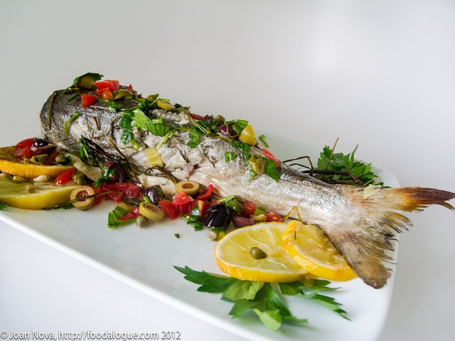 whole baked blue fish by joannova, a/k/a foodalogue