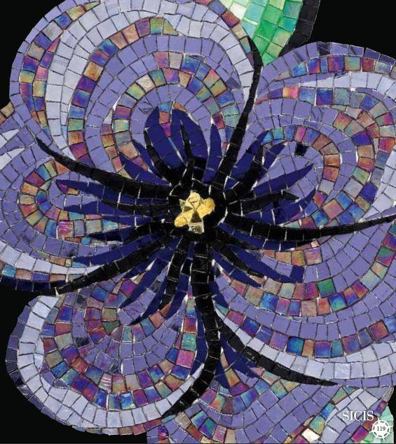 Mosaic Flower Design Mosaic Mosaique Fleurs Pinterest