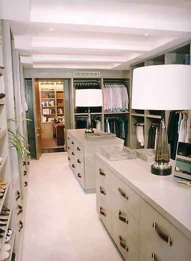 His hers closet closets pinterest for His and hers walk in closet designs