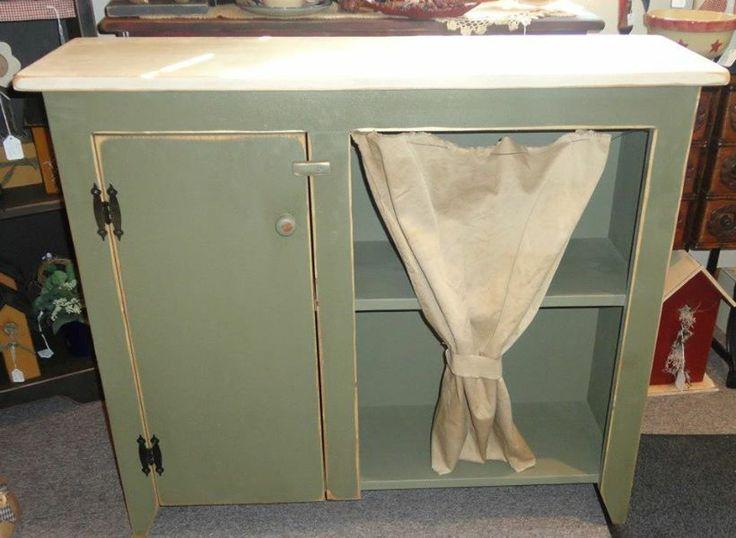 Curtain Cabinet | Handmade Primitive Wood Furniture | Pinterest