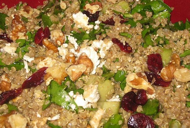 Quinoa Salad with Dried Cranberries and Feta. Sounds better than it ...