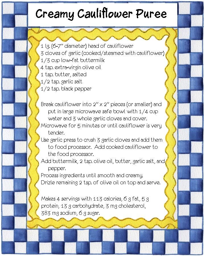 Creamy Cauliflower Puree | Band Friendly Recipes | Pinterest
