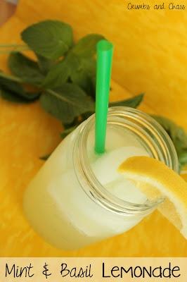 Mint & Basil Lemonade | food ideas | Pinterest