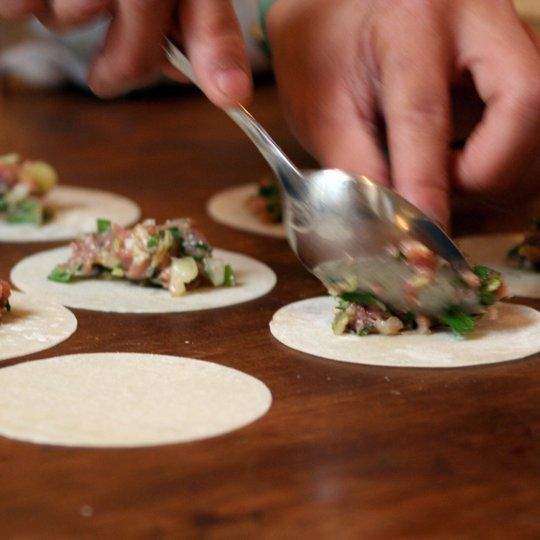 Recipe: Kenny Lao's Rickshaw Dumplings. Ginger pork filling. Notes: Do ...