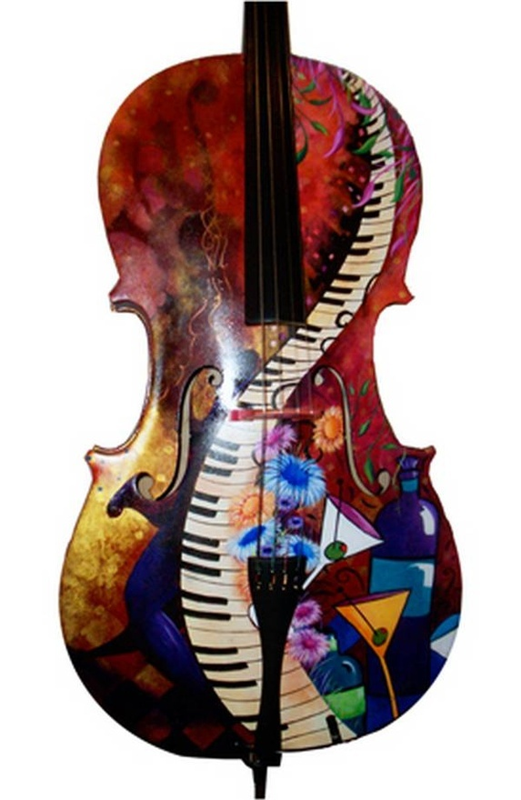 A painted violin | Painted violins | Pinterest