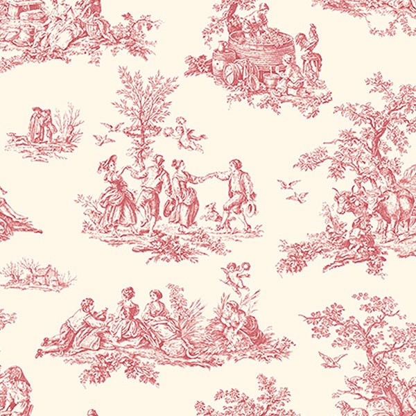 red toile wallpaper my style pinboard pinterest. Black Bedroom Furniture Sets. Home Design Ideas