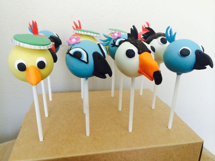 Rio themed Cake Pops