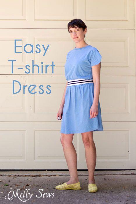 Perfect Simple Sew  Easy Tshirt Dress By Httpmellysewscom