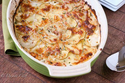 Goat Cheese Potato Gratin | Yummy in my Tummy | Pinterest