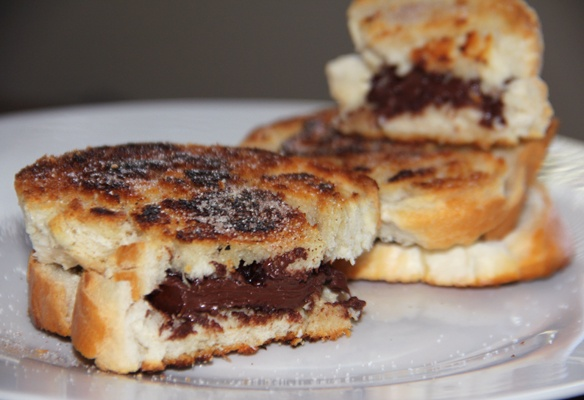 Grilled Chocolate Fleur de Sel Sandwich | Food | Pinterest