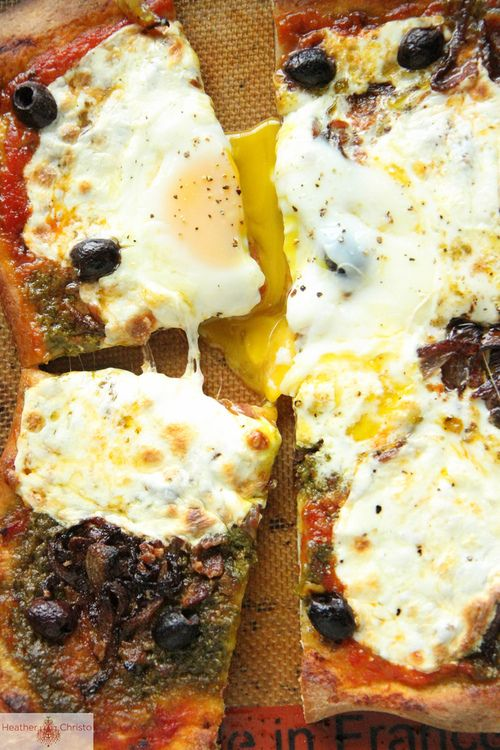 Eggs and Bacon Pizza recipe. | Delicious Food | Pinterest