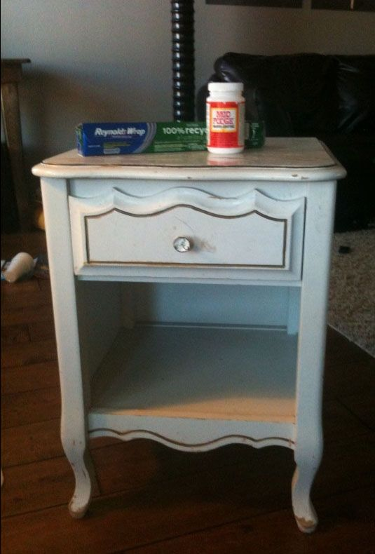 Before & After: A Tin-Foiled Nightstand Vintage Revivals