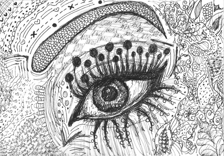 Cool Art Designs To Draw : Illustrated eye design drawing art illustration